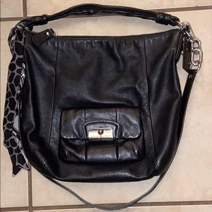 EUC coach satchel bag with crossbody strap